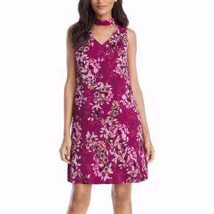 White House Black Market Floral Dress Size 8